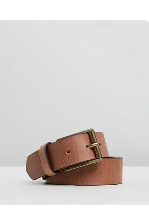 Double Oak Mills Smooth Leather 35mm Belt - Belts (Tan & ) Smooth Leather 35mm Belt