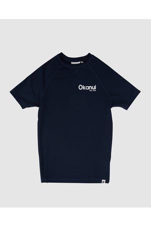Okanui Kids Logo Short Sleeve Rash Shirt - Swimwear Kids Logo Short Sleeve Rash Shirt