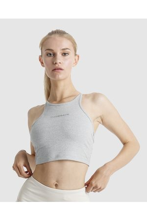 The Brave Women's Elevate Crop Top - Cropped tops (Light Marle) Women's Elevate Crop Top
