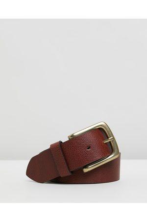 Double Oak Mills Casual Grain Leather Belt - Belts (Cognac & ) Casual Grain Leather Belt