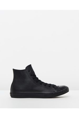 Converse Chuck Taylor All Star Leather Hi Unisex - Sneakers ( Monochrome Leather) Chuck Taylor All Star Leather Hi - Unisex