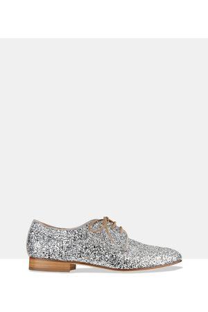 HABBOT Women Loafers - Raglin Derby Lace ups - Flats ( Glitter) Raglin Derby Lace-ups