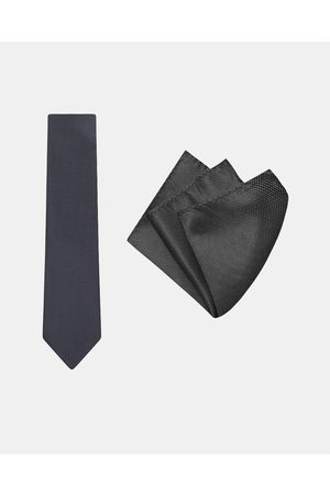 Buckle Micro Spot Tie & Pocket Square Set - Ties Micro Spot Tie & Pocket Square Set