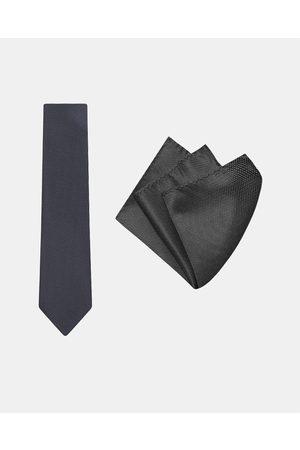 Buckle Micro Spot Tie & Pocket Square Set - Ties Micro Spot Tie & Pocket Square Set