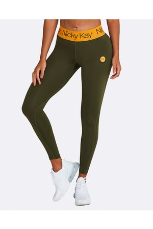 Nicky Kay FitGlam Compression Tights - Compression Bottoms (Khaki) FitGlam Compression Tights