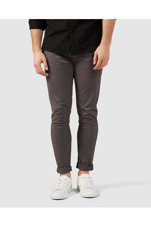 French Connection Slim Fit Stretch Chino Pants - Pants (CHARCOAL) Slim Fit Stretch Chino Pants