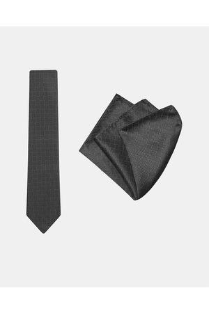 Buckle Basket Tie & Pocket Square Set - Ties Basket Tie & Pocket Square Set