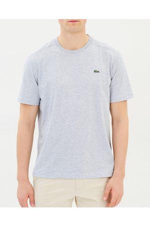 Lacoste Basic Crew Neck Sport Tee - T-Shirts & Singlets ( Chine) Basic Crew Neck Sport Tee