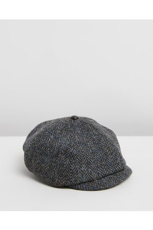 Pappe Stanley Paperboy Tweed Hat Kids - Headwear (Charcoal) Stanley Paperboy Tweed Hat - Kids