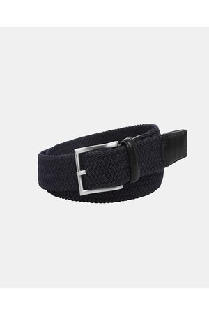 Buckle Crew 35mm Plaited Belt - Belts (Navy) Crew 35mm Plaited Belt