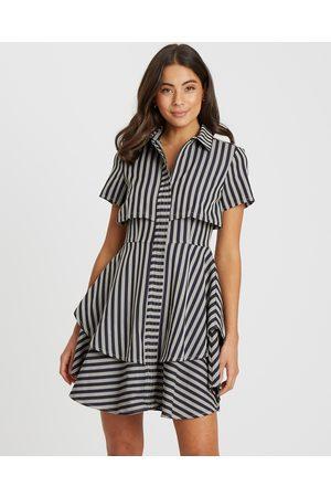 Willa Cavanaugh Layered Dress - Dresses ( Navy Stripe) Cavanaugh Layered Dress
