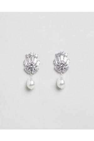 Stephanie Browne Viva Pearl Earrings - Jewellery (Rhodium) Viva Pearl Earrings