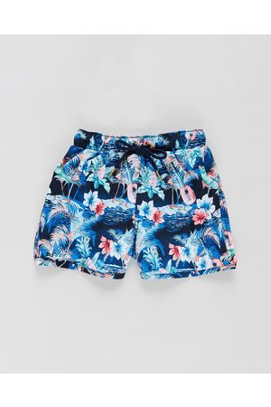 Aqua Blu Oahu Retro Boardshorts Kids - Swimwear (Oahu) Oahu Retro Boardshorts - Kids