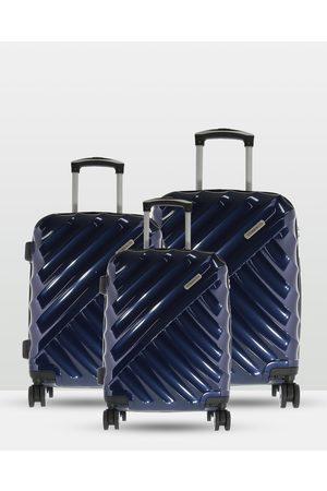 Cobb & Co Bendigo Polycarbonate Luggage 3 Piece Set - Bags (NAVY) Bendigo Polycarbonate Luggage 3 Piece Set