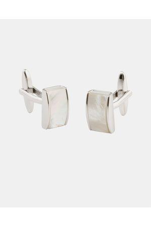 Buckle Mother of Pearl Cufflinks - Ties & Cufflinks (Nickel Brushed) Mother of Pearl Cufflinks