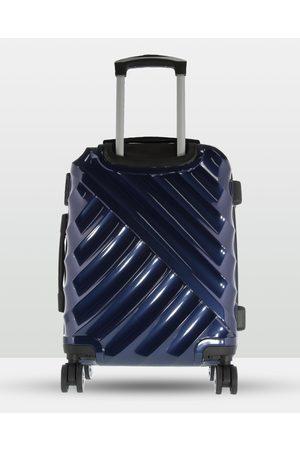 Cobb & Co Toiletry Bags - Bendigo Polycarbonate Medium Hard Side Case - Travel and Luggage (NAVY) Bendigo Polycarbonate Medium Hard Side Case