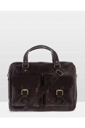 Cobb & Co Soho Leather Laptop Briefcase - Satchels (Chocolate) Soho Leather Laptop Briefcase