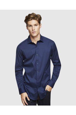 Oxford Navy Stretch Travel Shirt - Shirts & Polos (Navy) Navy Stretch Travel Shirt