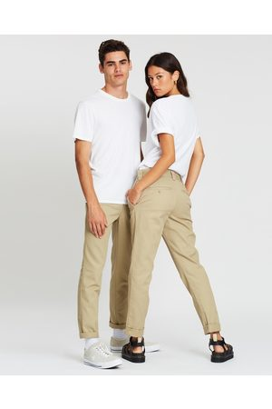 Dickies 872 Slim Straight Tapered Fit Pants - Pants (Khaki) 872 Slim Straight Tapered Fit Pants