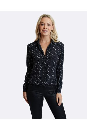 The Fable Starry Starry Night Silk Shirt - Tops Starry Starry Night Silk Shirt