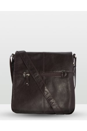 Cobb & Co Alex Leather Satchel Large - Tech Accessories (Chocolate) Alex Leather Satchel Large