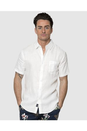 Coast Men Short sleeves - Short Sleeve Linen Shirt - Casual shirts Short Sleeve Linen Shirt