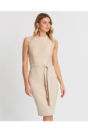 Miss Holly Women Midi Dresses - Ericka Dress - Bridesmaid Dresses (Nude) Ericka Dress