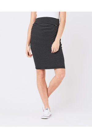 Ripe Maternity Mia Stripe Skirt - Pencil skirts ( /Flint) Mia Stripe Skirt