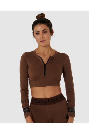 Nicky Kay Long Sleeve Compression Crop - Tops Long Sleeve Compression Crop