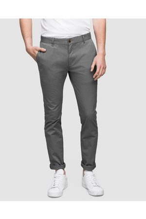 WAYVER Slim Stretch Chinos - Pants (Smoke) Slim Stretch Chinos