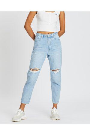 Lee Women High Waisted - High Mom Jeans - High-Waisted (Oxy Destruct) High Mom Jeans
