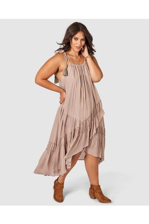 The Poetic Gypsy Here Comes The Sun Maxi Dress - Dresses (neutral) Here Comes The Sun Maxi Dress