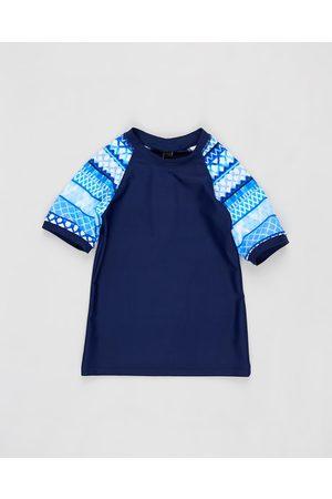 Aqua Blu Riviera Short Sleeve Rash Vest Kids - Swimwear (Riviera) Riviera Short Sleeve Rash Vest - Kids