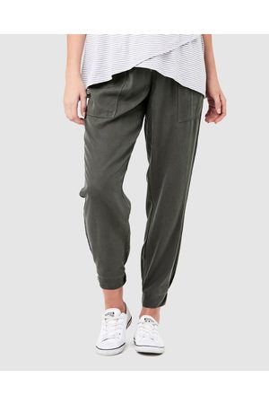 Ripe Maternity Tencel Off Duty Pants - Cargo Pants (Olive) Tencel Off Duty Pants