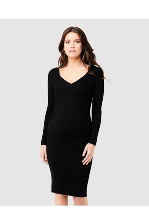 Ripe Maternity Sadie Rib Knit Nursing Dress - Bodycon Dresses Sadie Rib Knit Nursing Dress