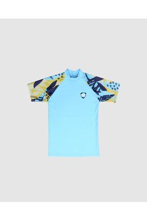 Conscious Swim Short Sleeve Logo Rashie Boys - Rash Suits (Turquoise) Short Sleeve Logo Rashie - Boys
