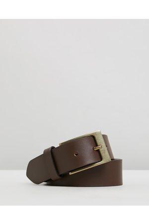 Double Oak Mills Smooth Leather 35mm Belt - Belts ( & ) Smooth Leather 35mm Belt
