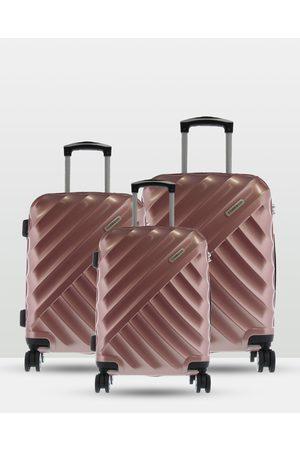 Cobb & Co Bendigo Polycarbonate Luggage 3 Piece Set - Bags (ROSE ) Bendigo Polycarbonate Luggage 3 Piece Set