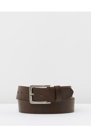 Loop Leather Co Men Belts - Billy Basic - Belts (Choc) Billy Basic