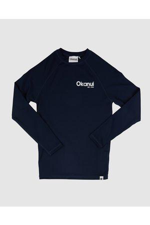 Okanui Kids Logo Long Sleeve Rash Shirt - Swimwear Kids Logo Long Sleeve Rash Shirt