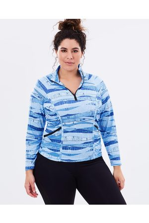 Curvy Chic Sports Stay Cool Long Sleeve Top - Long Sleeve T-Shirts ( Print) Stay Cool Long Sleeve Top