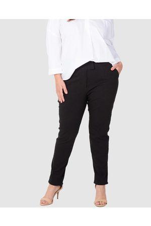 Love Your Wardrobe Stretch Bengaline Tummy Tuck Pants - Pants Stretch Bengaline Tummy Tuck Pants