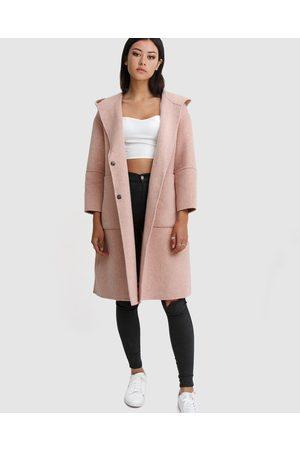 Belle & Bloom Walk This Way Wool Blend Hooded Coat - Coats & Jackets Walk This Way Wool Blend Hooded Coat