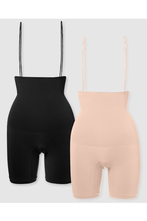 B Free Power Shaping Stay Up Shorts 2 Pack - Lingerie Accessories ( & Nude) Power Shaping Stay Up Shorts - 2 Pack