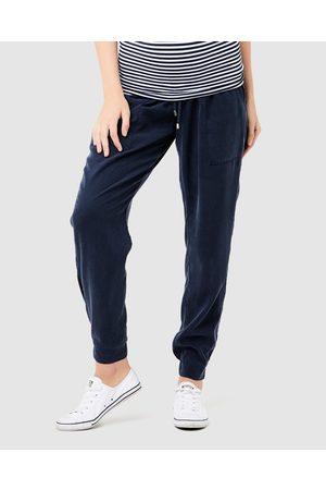 Ripe Maternity Women Cargo Pants - Tencel Off Duty Pants - Cargo Pants (Navy) Tencel Off Duty Pants