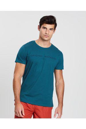 ORIGINAL WEEKEND Print T Shirt - T-Shirts & Singlets (Atlantic) Print T-Shirt