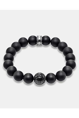 Thomas Sabo Men Bracelets - Matt Obsidian Bead Bracelet - Jewellery Matt Obsidian Bead Bracelet