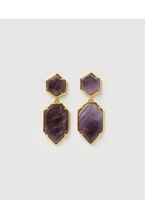 Miz Casa and Co Clementine Earrings - Jewellery (Amethyst ) Clementine Earrings
