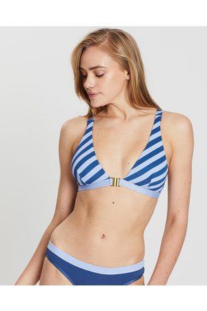 Duskii Salsa Top - Bikini Tops (Navy & Serenity Stripe) Salsa Top