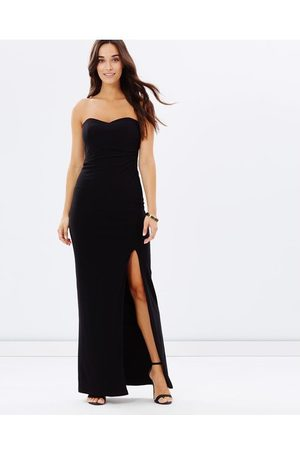 SKIVA Strapless Evening Dress with Split - Dresses Strapless Evening Dress with Split
